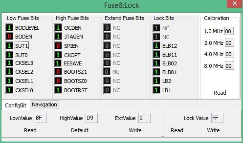 Mega16 Ext. Crystal FuseBits